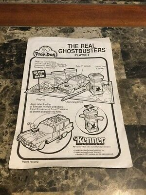 Vintage 1988 Kenner The Real Ghostbusters Play-Doh Instructions Only