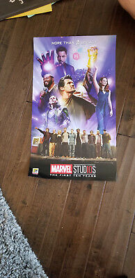 "2018 Sdcc Comic Con Exclusive Marvel Avengers Loki Iron Legacy Poster 13"" X 23"""