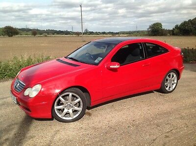 Mercedes C Class Red 1800 Kompressor 1.8 Supercharged Coupe Clc C230K Low Miles