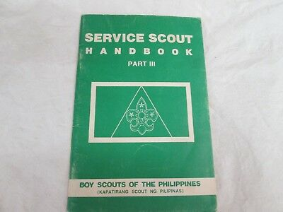 vintage June 1979 Service Scout handbook Part 3 Boy Scout of the Philippines