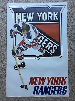 Vintage NHL New York Rangers poster from 1973