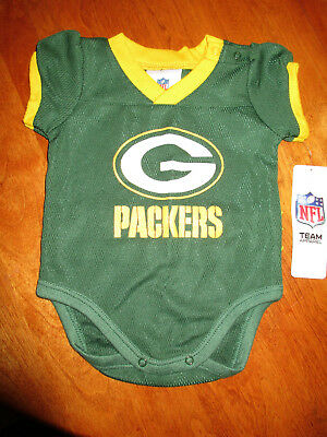 a6e25eb1 GREEN BAY PACKERS Baby Girl Infant One Piece Creeper Green NFL size ...