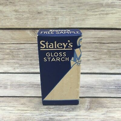 Vintage Staleys Gloss Starch Laundry Advertising Box