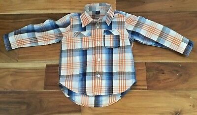 Boys Toddler Baby Gap Plaid Button Up Shirt Size Toddler 3 Years