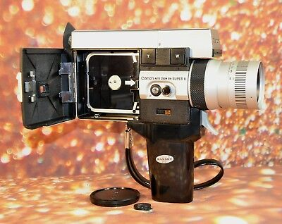 【WORKING】CANON 518 AUTO ZOOM Super 8 MOVIE CAMERA FILM TESTED READY TO USE