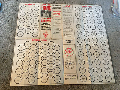 1964 COCA COLA COKE CLEVELAND BROWNS BOTTLE CAP SAVER SHEET UNUSED Nice !!