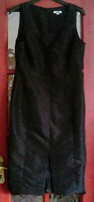 YOKKO BLACK sleeveless lined semi fitted formal cocktail dress  size 16