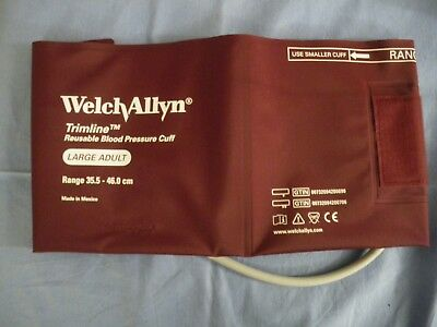 Welch Allyn Timeline Large Adult blood pressure Cuff size  35.5-46cm reusable