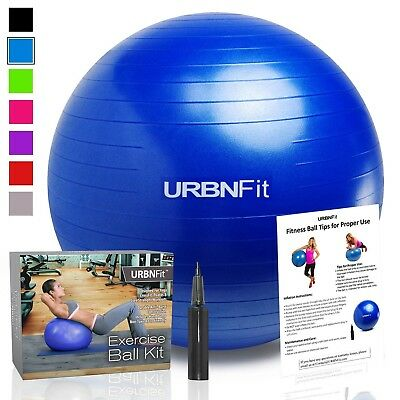 (Blue, 45CM) - URBNFit 1 1 Exercise Gym (Multiple Sizes and Colours) for