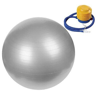 (Silver) - EVER RICH ® EXERCISE GYM YOGA SWISS BALL FITNESS PREGNANCY BIRTHING