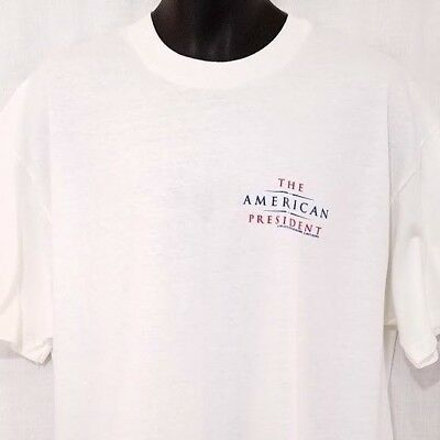 The American President Mens T Shirt Vintage 90s 1995 Movie Promo Made In USA XL