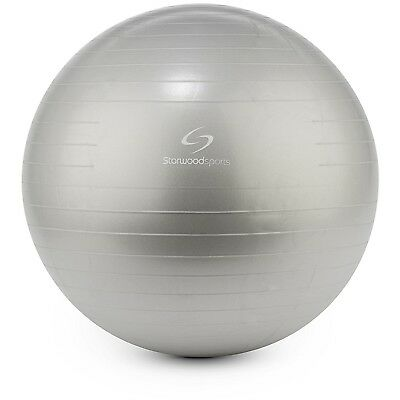 (Silver, 75 cm) - Starwood Sports Exercise Ball – 65 cm or 75 cm Yoga Swiss