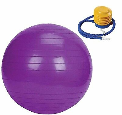 (Purple) - Ever Rich EXERCISE GYM YOGA SWISS BALL FITNESS PREGNANCY BIRTHING