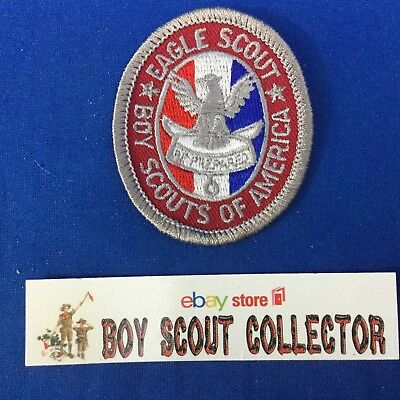 Boy Scout Eagle Scout Rank Patch Type 3 1960's Cloth Back