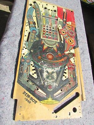 Pin-Bot Pinball Machine Playfield Parts Or Wall Hanger # 549