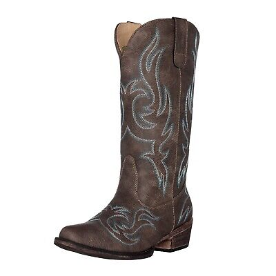 14852125889 WOMEN'S WESTERN COWGIRL Cowboy Boot | Brown Reno Square Snip Toe by Silver  Canyo
