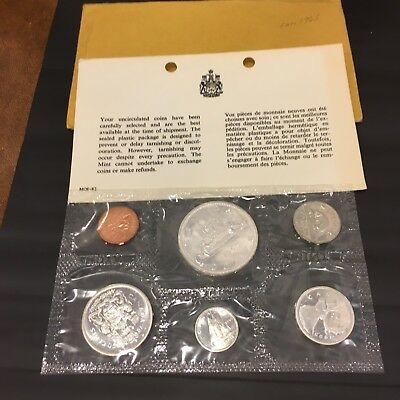 1965 The Royal Canadian Mint Canada Set Silver ( Proof Like ) Sealed Flat Pack