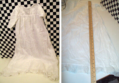 "28"" Antique Baby Christening Gown No Stains Small tear at seam of lace NICE!~~~~"