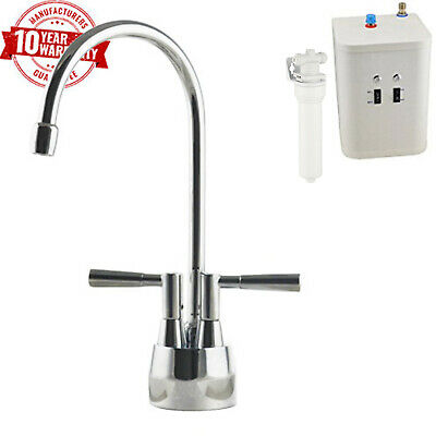 Instant Hot / Boiling Water Kitchen Tap 2 in 1 Heating Unit & 2 way Water Filter