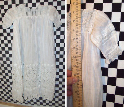 """25"""" Antique Cotton Baby's Gown Approx. 3 month old NO ISSUES!~~~"""