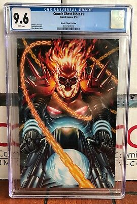 Cgc 9.6 Cosmic Ghost Rider # 1 Mark Brooks Virgin Variant Cover