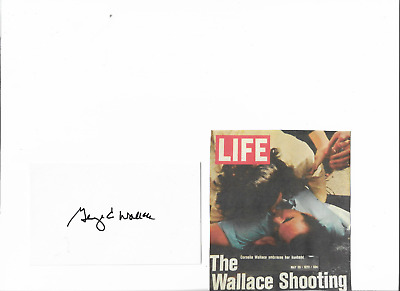 George C. Wallace - Genuine Hand Signed Autograph Card With Image/coa.