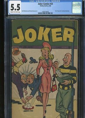 Joker Comics 23 From 1946 1st Hey Look By Kurtzman CGC Graded 5.5 Fine-