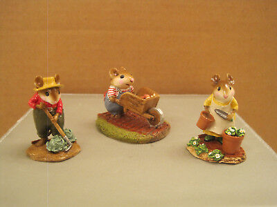 Wee Forest Folk Lot of (3) M-104 Harvest Mouse, Hoe Joe and Patient Lucy Set
