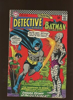 Detective Comics 356 VG+ 4.5 * 1 Book * 1st Full Outsider - Revealed as Alfred!