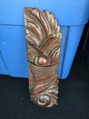 "1920's 14 1/4"" Carved Wood Pediment"
