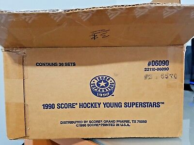 Lot / Case of 27 1990 Score Young Superstars 40 Card Hockey Sets