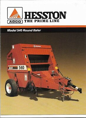 AGCO HESSTON 540 Round Baler size 4x4, CAN SHIP @ $1 85 loaded mile