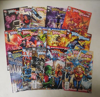 Vintage 2003 COMIC BOOK LOT (15) ALL TEEN TITANS (3rd series) # 75-89 DC