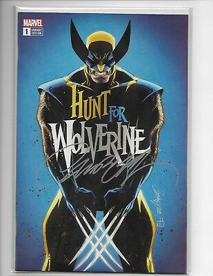 Hunt For Wolvering 1 J Scott Campbell Exclusive Signed Cvr A Blue