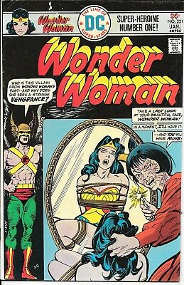 Bronze age, Wonder Woman No 221 (Jan 76 DC) WW in bondage