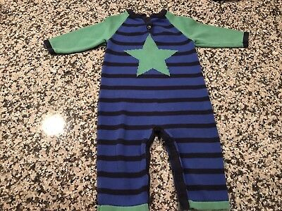 Hanna Andersson Knit Star One Piece Romper 80