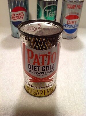 1961 Patio Diet Cola Sugar Free Flat Top Can With Vanity Lid Pepsi Cola Product