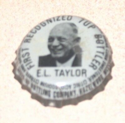 Exceedingly RARE 7 Up Soda Bottle Cap Pic EL Taylor 1st Bottler Hazelwood MS