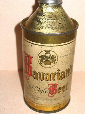 Bavarian Beer Covington KY EXCEEDINGLY RARE Cone Top Beer Can Altered