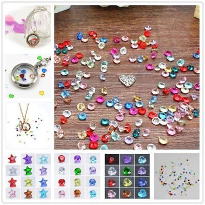 Wholesale 100PCS Multi 5mm Round Heart Birthstones Floating Charms For Locket