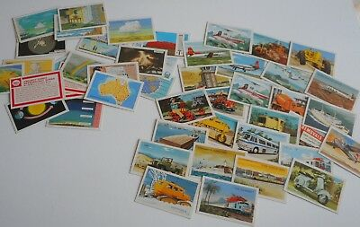 52 Shell project cards Transportation & Meteorology VG condition. Vintage