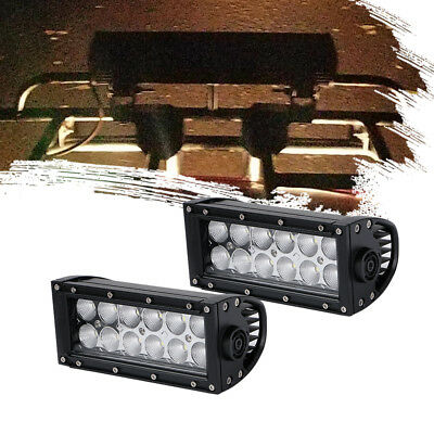 "2x 7INCH 72W LED Work Light Bar CREE Flood Beam OffRoad Driving ATV VS 9"" Spot"
