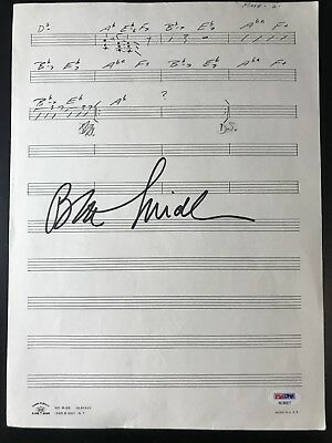 Bette Midler Signed Sheet Music Make Yourself Comfortable Autograph PSA/DNA