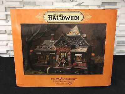 Dept 56 Snow Village Halloween Rickety Railroad 10th Anniversary #800000 hologrm