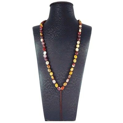 Mookaite tumbled Beads Chain for Necklace EJ717028
