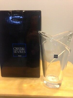 Cristal De Sevres Baikal Vase New In Box