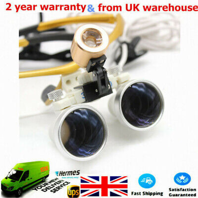 Dental LED Head Light Magnifier Binocular Loupes 3.5X for Dental Surgical UK!