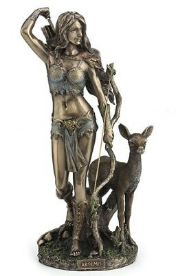 "10"" Artemis Greek Goddess of the Hunt Diana of Versailles Roman Huntress Statue"