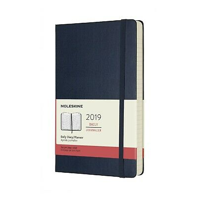 2019 Moleskine Large Daily Hard Cover Diary/Planner Sapphire Blue NEW