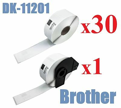 30+1 x Compatible Labels Brother DK-11201 DK11201 29mm x 90mm 400pcs/Roll White